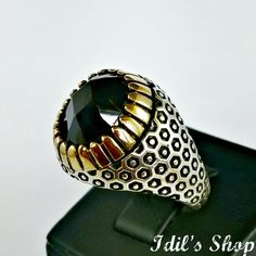 Men's Ring Turkish Ottoman Style Jewelry 925 Sterling by IdilsShop, $105.00 Princes Ring, Rings N Things, Gold And Silver Rings, Bracelets For Men, Ring Designs, Jewelry Rings, Rings For Men, Fashion Jewelry, Bling