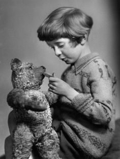 The real Winnie the Pooh and Christopher Robin!