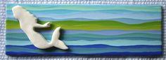 Summer Kate Studio - Ceramic Tiles Mermaid swimming - 12x3 inches ©Kathleen Farrell, Summer Kate Studio
