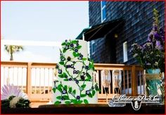Unique wedding cake at reception at Henderson Park Inn. #beach #wedding #Henderson #Park #Inn #Florida #honeymoon
