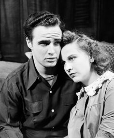 If you were born in 1947, that year Marlon Brando became the hottest star on the Broadway stage with his role in Tennessee Williams' play A Streetcar Named Desire - here he is from that play with his co-star Kim Hunter - Karl Malden also was in this play with Brando.