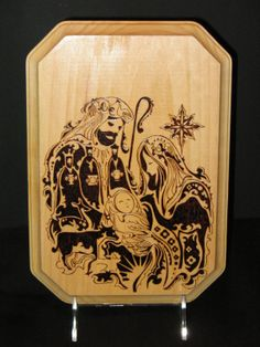 Order yours today to have in time for Christmas!!!    Nativity Plaque by LumberYarn on Etsy, $50.00