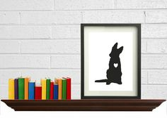 11 x 14 DIY German Shepherd Silhouette Art Print by DIGIArtPrints, $5.00