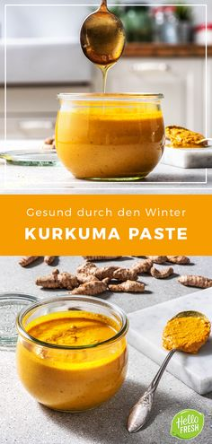 Amazing Awesome We'll show you how to make fresh turmeric paste yourself. Turmeric / Paste / Sup Turmeric Paste, Fresh Turmeric, Healthy Eating Habits, Healthy Snacks, Healthy Recipes, Best Nutrition Food, Health And Nutrition, Cooking Box, Superfood Recipes