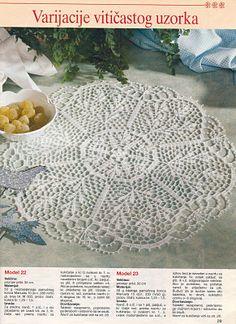 CROCHETANDO COM A ZANI: Toalhinhas brancas de croche