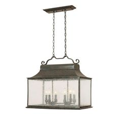 This lantern-style light would make a beautiful accent over a pennisula or island in a cottage #kitchen