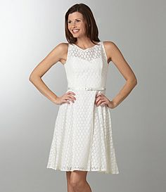 Evan Picone Belted Dress- like this white version too