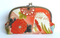 Vintage Japanese Kimono Fabric Clutch Bag