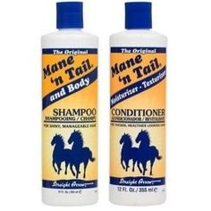 mane and tail shampoo! it makes your hair soft and strong! its also a great way to make your hair grow longer and faster! give it a try!