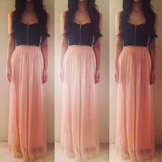 Bustier + maxi skirt = love <3