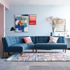 Die 8 Besten Bilder Von Blaue Sofas Arredamento Blue Fabric Und