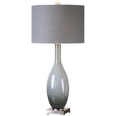 Uttermost Vallo Smoke Gray Table Lamp 26180