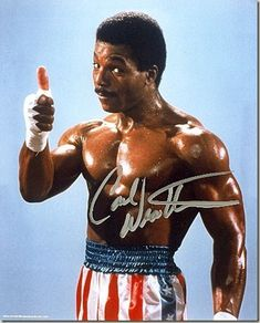 APOLLO CREED-is one of my favorite movie characters-played by Carl Weathers. ROCKY BALBOA may have been an underdog story but even Slyve. Rocky Balboa, Sylvester Stallone, Rocky Film, Stallone Rocky, Creed Movie, Apollo Creed, Carl Weathers, Heavyweight Boxing, Boxing History