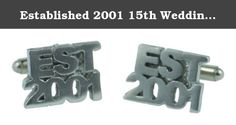 Established 2001 15th Wedding Anniversary Cufflinks - EST 2001 - Handmade & Unique 15 Year Gift. We have been producing wedding anniversary gifts for the past decade and we are pleased to introduce our stunning rustic established 2001 cufflinks. Perfect gift to give your husband or partner on your 15th wedding anniversary that also provides a great keepsake for the occasion Features a T bar Cufflink back that is soldered onto the cufflink front. Handmade in the UK, not Chinese reproduction.