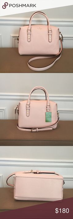 "Kate Spade Mulberry Street Pink Julianne Satchel New with tag. Cute pink Kate Spade satchel has longer strap for shoulder or crossbody wear. Inside has zip pocket and two slip pockets. Measures about 11""L x 8""H x 6""D. Strap drop about 20.5"", but can be adjusted 2"" shorter or longer. Smoke free, pet free home. kate spade Bags Satchels"