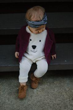 Polar+bear+face+romper+Harem+Romper+Baby+van+AnchoreDeep+op+Etsy
