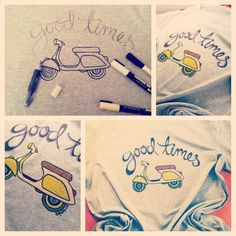 My magical process of making these magical tees! Featuring a Vespa ! #vespa #design #handmade #drawing #tshirt #equinco