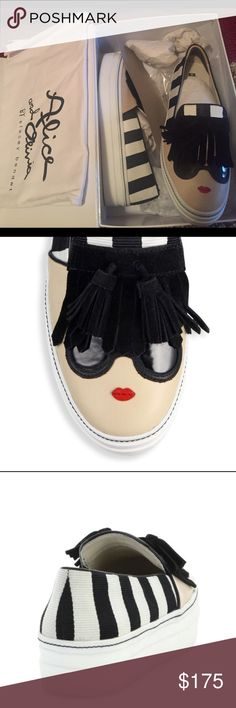 Alice & Olivia sneakers.❤️ Alice & Olivia stave face platform sneakers. Worn once Alice + Olivia Shoes Sneakers