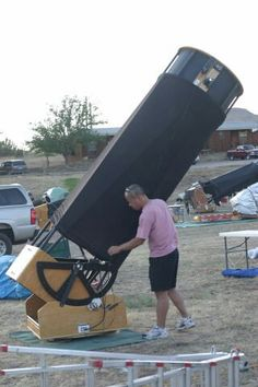 30 inch reflector at the Texas Star Party - Earth And Space, Diy Telescope, Hubble Space Telescope, Nasa, Telescope Pictures, Refracting Telescope, Astro Science, Star Party, Outer Space