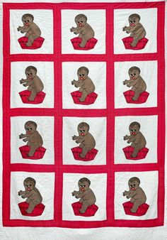 Wonkyworld: Black baby in a tub quilt