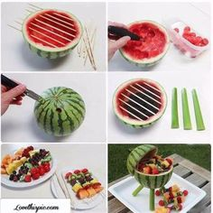watermelon fruit party idea food fruit diy diy crafts easy diy party ideas diy food party favors summer party ideas food art party idea
