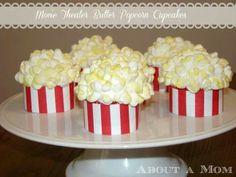 Movie Theatre popcorn cupcakes