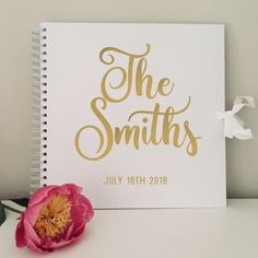 Wedding Guest Book, Mr and Mrs Book, Personalised Guestbook, Polaroid Album, Photo Booth Album, White Black Kraft Rose Gold Silver, Friends by TheKraftyWombat on Etsy Green Rose, Red Green, Wedding Planning, Wedding Ideas, Wedding Keepsakes, Guest Books, Black And Navy, Text Color, Wedding Guest Book