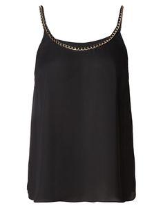 Kardashian Chain Cami in Black