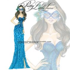 """Emily Fields - Unmasked The more i spend time sketching these dresses the more i fall in love with all of them! This color looks amazing on Illustration Girl, Girl Illustrations, Pretty Little Liers, Emily Fields, Spencer Hastings, Pll, I Fall In Love, Winter Fashion, Girl Fashion"