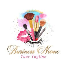 This logo is designed as a premade logo and will be resold. I will customize the logo with your business name. Only two revisions included for the premade logos, like font change or color change ( color change is not possible for the watercolor designs) It is vector based, you will receive an AI Custom Logo Design, Custom Logos, Diy Design, Cosmetic Logo, Nail Logo, Makeup Illustration, Eyelash Logo, Beauty Lash, Beauty Makeup