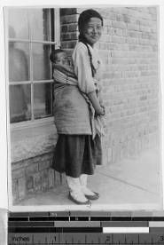 Girl and her brother, Korea, 1933 :: International Mission Photography Archive, Maryknoll