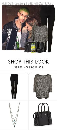 """Night Out I'm London at the Bar with Zayn and Perrie ~ GIVEAWAY"" by elise-22 ❤ liked on Polyvore featuring Topshop, River Island, Kenneth Cole, Prada and Missguided"