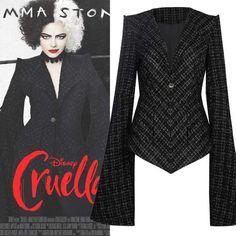 Emma Stone Outfit, Cruella Deville Costume, 101 Dalmatians Cruella, Motif Art Deco, Baby Girl Toys, Cosplay Costumes, Halloween Cosplay, Couture, Designer Dresses