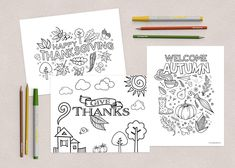 Free Thanksgiving Coloring Pages www.TeepeeGIrl.com