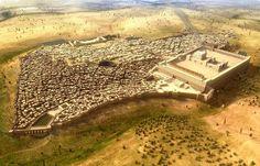 Aerial View of Ancient Jerusalem by Jochen Stuhrmann