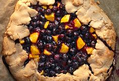 rustic blueberry and nectarine pie