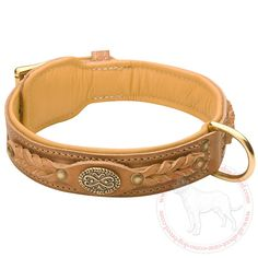Luxurious and #comfortable #leather #dog #collar $59.90 | http://www.all-about-cane-corso-dog-breed.com/