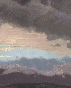 Frederic Edwin Church - Sunset across the Hudson Valley, New York (detail).