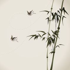 bamboo-branches,-vectorized-oriental-style-brush-painting