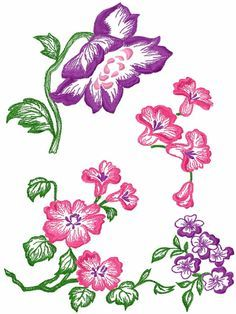 Flowers free embroidery design 54 - Flowers free machine embroidery designs - Machine embroidery community