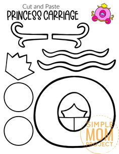 Whether it is Cinderella's carriage or it has turned into a pumpkin, all princesses need a carriage for their royal tea party! This free printable carriage template craft is a simple and fun craft to do with kids of all ages, including preschoolers and toddlers. You can glue it to a paper plate to display on the door or you can have a simple princess wall decoration for any princess themed room. Click to download this free printable carriage template now. #carriagecraft #carriagetemplate… Royal Tea Parties, Princess Carriage, Fun Crafts To Do, A Pumpkin, Room Themes, Paper Plates, Little Princess, Tea Party, Free Printables
