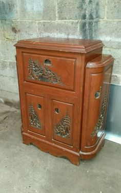 Drinks Cabinet - Oriental Carving Detail in Home, Furniture & DIY ...