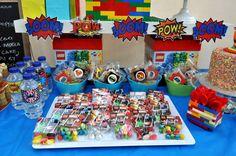 My Son's 5th Bday Bash! DC Superheros Lego Theme www.facebook.com/BabyBerryC
