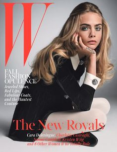 Cara Delevingne is one of W's 5 October cover stars. Meet the new royals here.