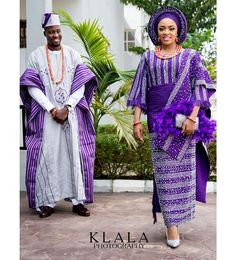 Yoruba Traditional Wedding Attire Styles [Updated May Nigerian Wedding Dress, African Wedding Attire, African Attire, African Wear, African Style, African Weddings, Wedding Dresses, African Fashion Designers, African Men Fashion