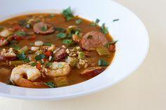 Shrimp and Sausage Jambalaya - Brown eyed Baker