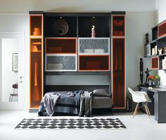 Maximize space with this multi-purpose wall unit by California Closets | Designlines
