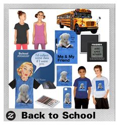 """""""Back to School with My Friends"""" by sandyspider ❤ liked on Polyvore featuring art"""