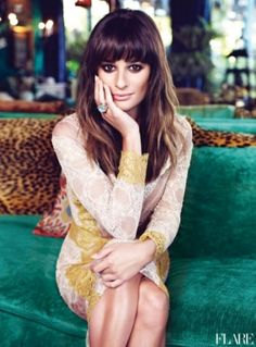 Lea Michele. She's such a beaut. And I want her bangs!