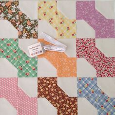 Stop. Drop. And make a bow tie or nine! #showmethemoda #showmethebellas #modafabrics #quilt #quilts #quilting #patchwork #plan #aurifil #idea @modafabrics